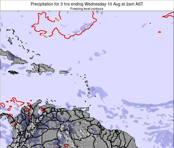 Montserrat Precipitation for 3 hrs ending Monday 27 May at 8pm AST map