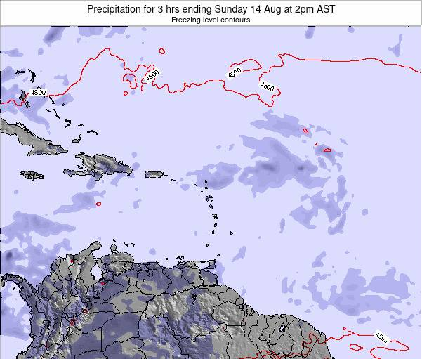 Anguilla Precipitation for 3 hrs ending Friday 24 May at 8pm AST map