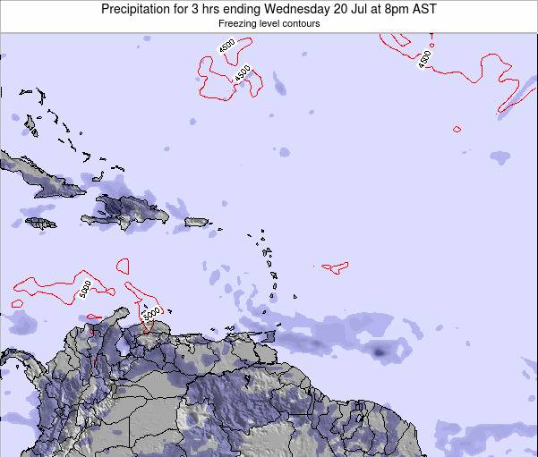 Montserrat Precipitation for 3 hrs ending Sunday 26 May at 2pm AST