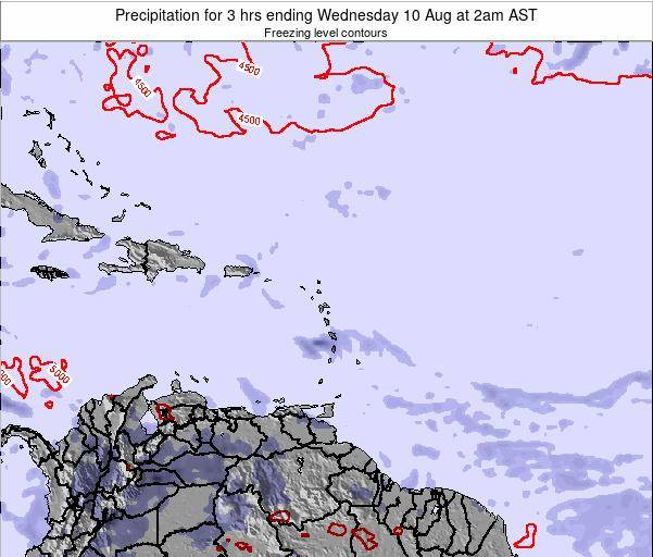 Saint Kitts and Nevis Precipitation for 3 hrs ending Thursday 30 Oct at 8pm AST