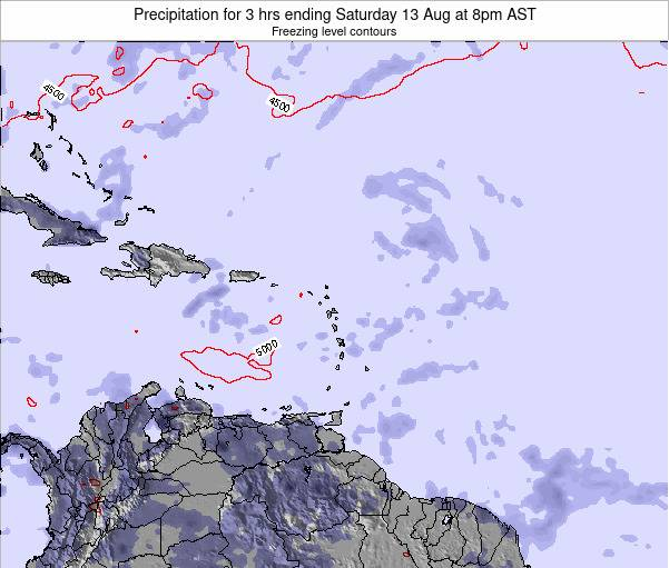 Saint Kitts and Nevis Precipitation for 3 hrs ending Friday 31 May at 8am AST