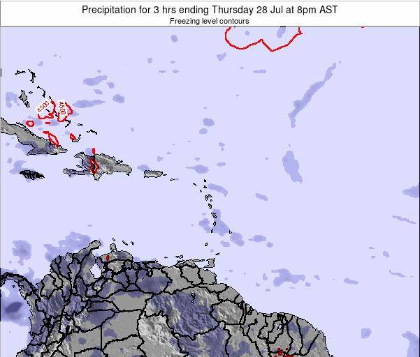 Puerto Rico Precipitation for 3 hrs ending Tuesday 25 Jun at 2pm AST