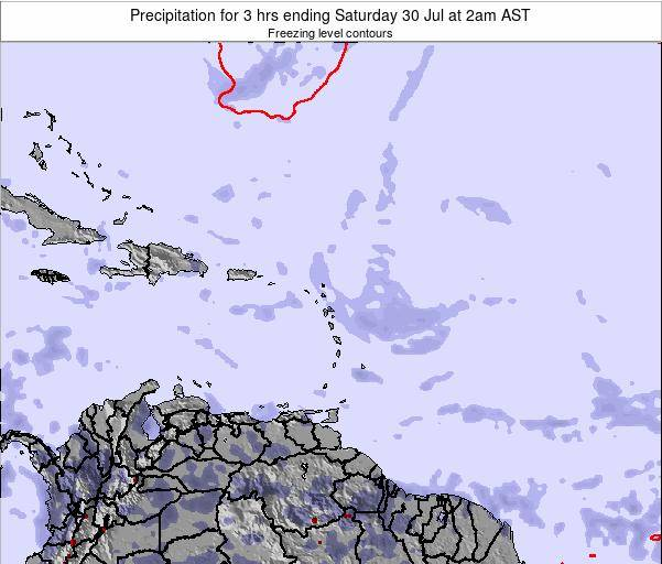 Saint Kitts and Nevis Precipitation for 3 hrs ending Wednesday 30 Apr at 2am AST