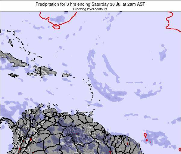 Montserrat Precipitation for 3 hrs ending Monday 27 May at 2pm AST map
