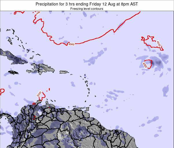Saint Kitts and Nevis Precipitation for 3 hrs ending Saturday 15 Mar at 8pm AST