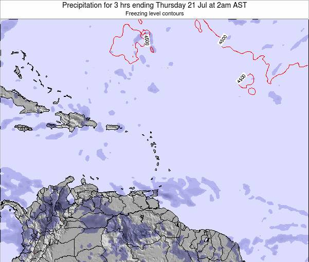 Saint Kitts and Nevis Precipitation for 3 hrs ending Wednesday 30 Apr at 8am AST