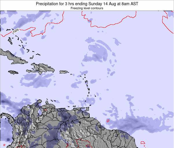 Saint Kitts and Nevis Precipitation for 3 hrs ending Friday 31 May at 8pm AST