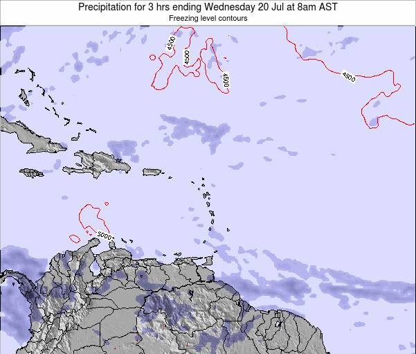 US Virgin Islands Precipitation for 3 hrs ending Tuesday 28 May at 2pm AST
