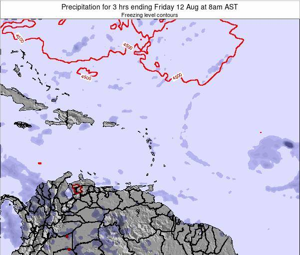 Puerto Rico Precipitation for 3 hrs ending Wednesday 11 Dec at 2pm AST