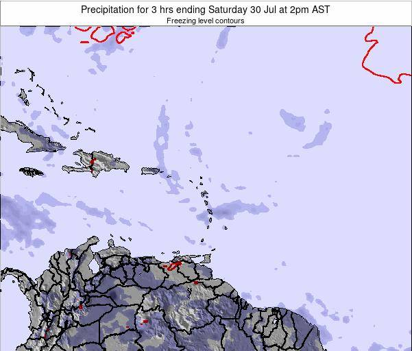 Puerto Rico Precipitation for 3 hrs ending Saturday 26 Apr at 2am AST