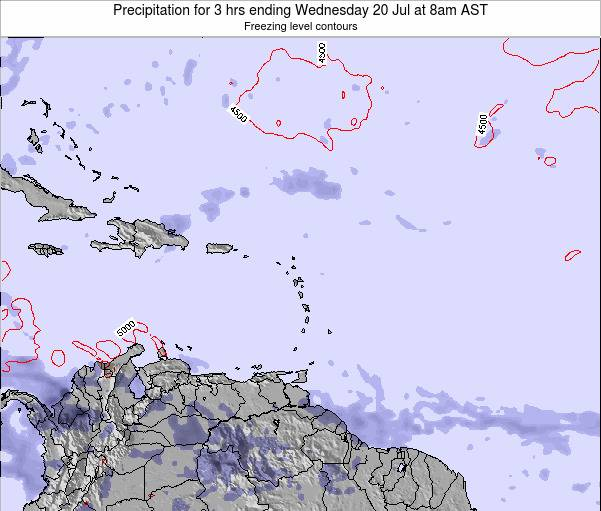 Puerto Rico Precipitation for 3 hrs ending Tuesday 18 Mar at 8pm AST