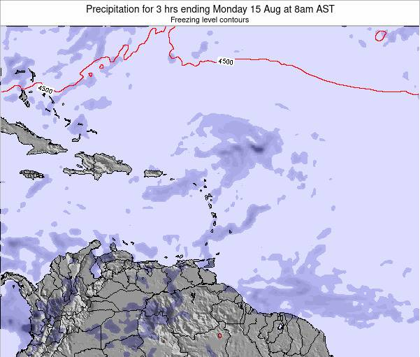 Montserrat Precipitation for 3 hrs ending Saturday 01 Jun at 8am AST map