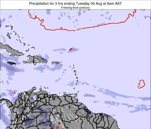 Puerto Rico Precipitation for 3 hrs ending Tuesday 29 Jul at 8am AST