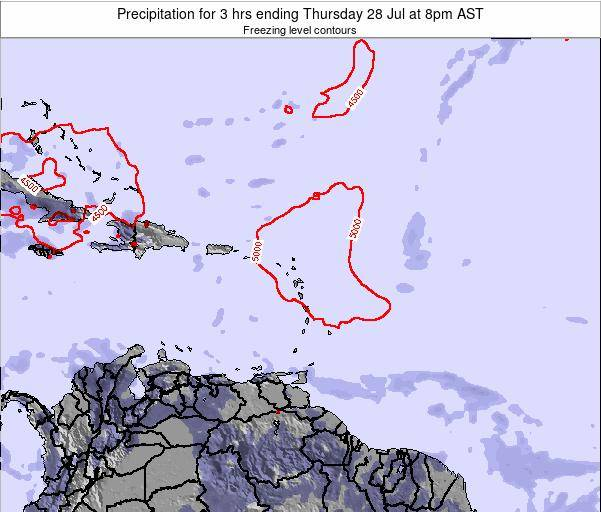 British Virgin Islands Precipitation for 3 hrs ending Wednesday 19 Jun at 2pm AST