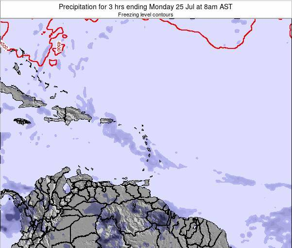 Puerto Rico Precipitation for 3 hrs ending Sunday 19 May at 8am AST
