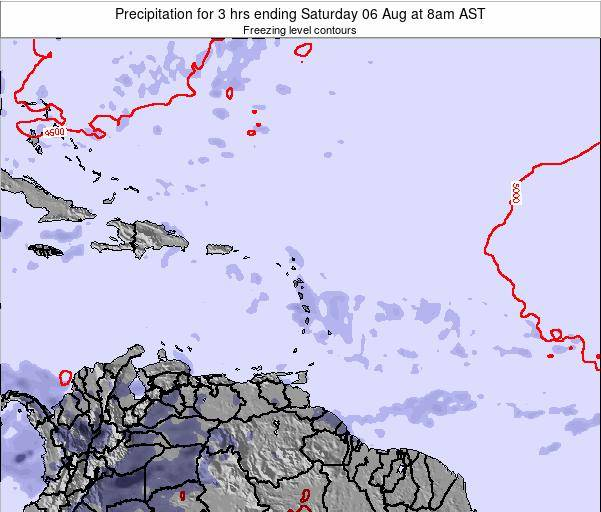 Montserrat Precipitation for 3 hrs ending Sunday 19 May at 8am AST