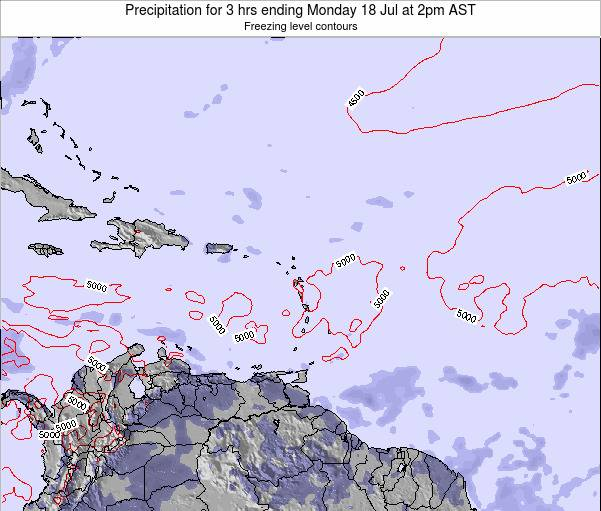 British Virgin Islands Precipitation for 3 hrs ending Saturday 26 Jul at 2am AST