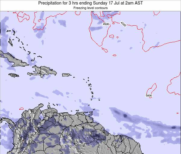 British Virgin Islands Precipitation for 3 hrs ending Friday 25 Apr at 8am AST