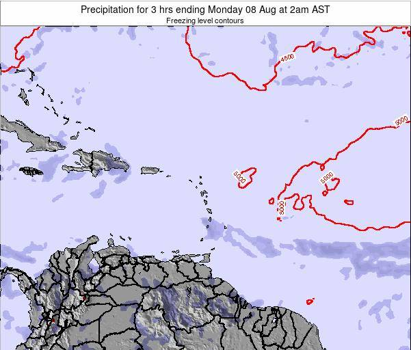 British Virgin Islands Precipitation for 3 hrs ending Friday 30 Sep at 8pm AST