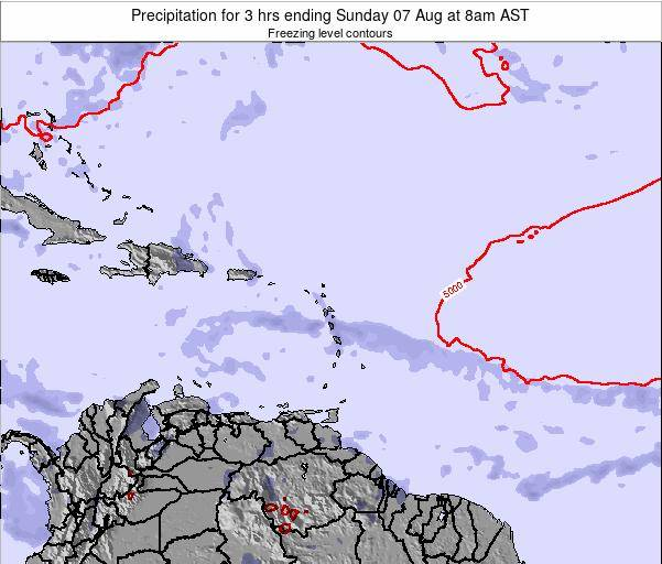 British Virgin Islands Precipitation for 3 hrs ending Wednesday 22 May at 8pm AST
