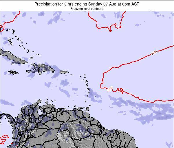 Montserrat Precipitation for 3 hrs ending Friday 24 May at 2pm AST