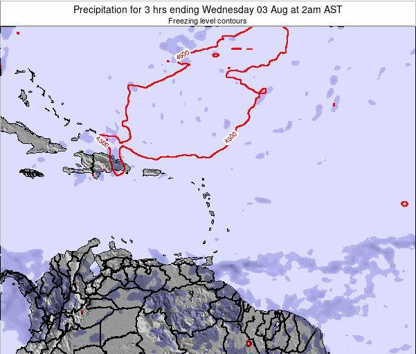 Saint Kitts and Nevis Precipitation for 3 hrs ending Thursday 20 Jun at 8am AST