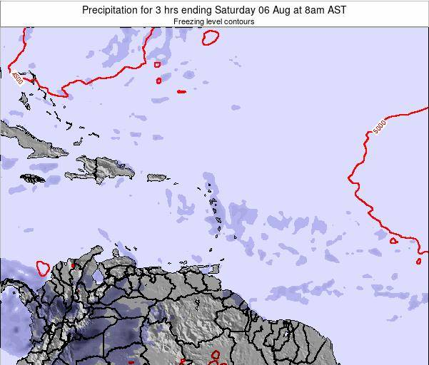 British Virgin Islands Precipitation for 3 hrs ending Tuesday 26 Jul at 2pm AST