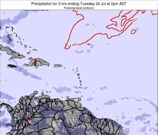 British Virgin Islands Precipitation for 3 hrs ending Sunday 26 May at 8am AST