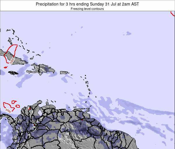British Virgin Islands Precipitation for 3 hrs ending Saturday 08 Mar at 2pm AST