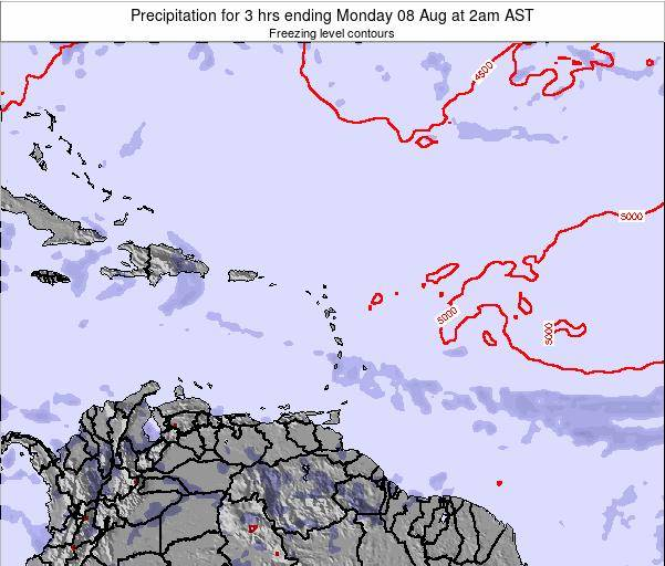 British Virgin Islands Precipitation for 3 hrs ending Sunday 26 Feb at 8am AST