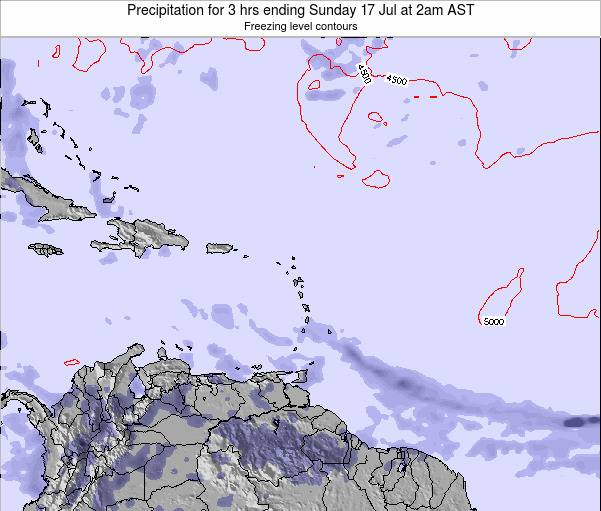 Saint Kitts and Nevis Precipitation for 3 hrs ending Sunday 26 May at 2pm AST
