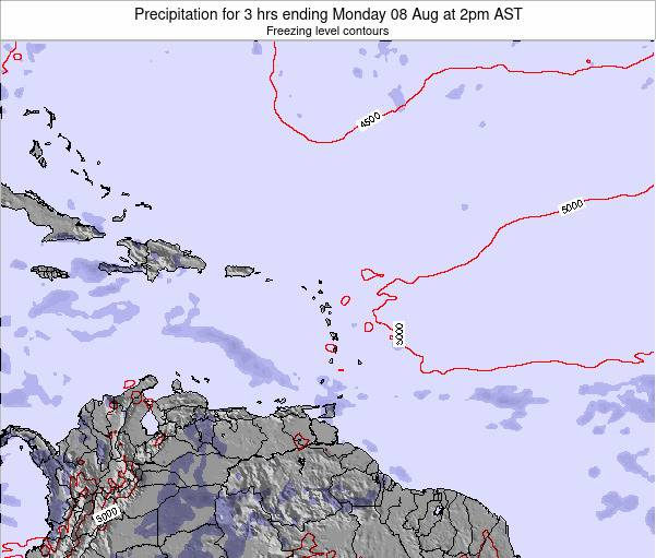 British Virgin Islands Precipitation for 3 hrs ending Thursday 24 Apr at 2pm AST