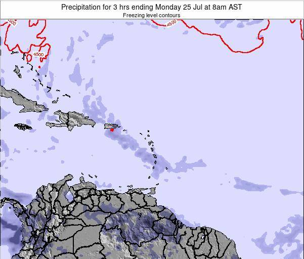 British Virgin Islands Precipitation for 3 hrs ending Sunday 08 Dec at 8pm AST