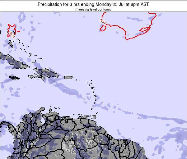 British Virgin Islands Precipitation for 3 hrs ending Thursday 02 Oct at 2am AST