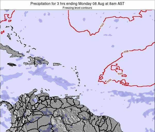 Anguilla Precipitation for 3 hrs ending Friday 21 Jun at 8am AST map