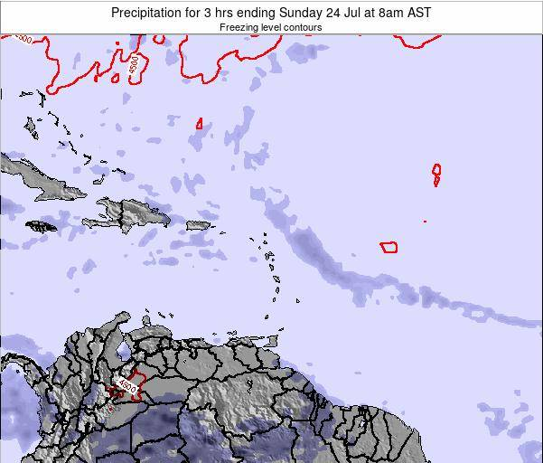 British Virgin Islands Precipitation for 3 hrs ending Saturday 26 Apr at 2am AST