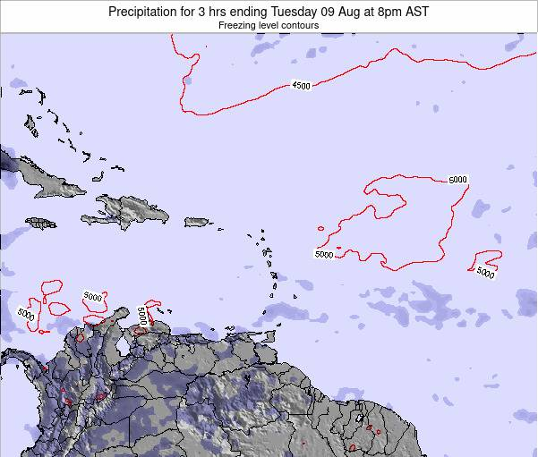 British Virgin Islands Precipitation for 3 hrs ending Thursday 17 Apr at 8pm AST