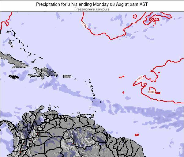 British Virgin Islands Precipitation for 3 hrs ending Thursday 21 Aug at 2am AST