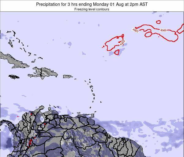 British Virgin Islands Precipitation for 3 hrs ending Wednesday 30 Jul at 8pm AST