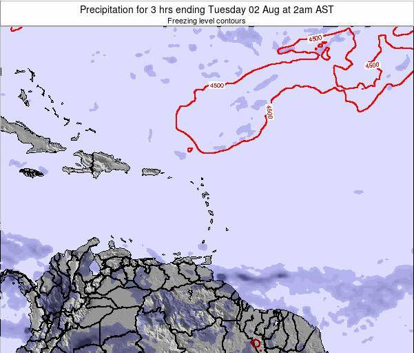 British Virgin Islands Precipitation for 3 hrs ending Wednesday 12 Mar at 2pm AST