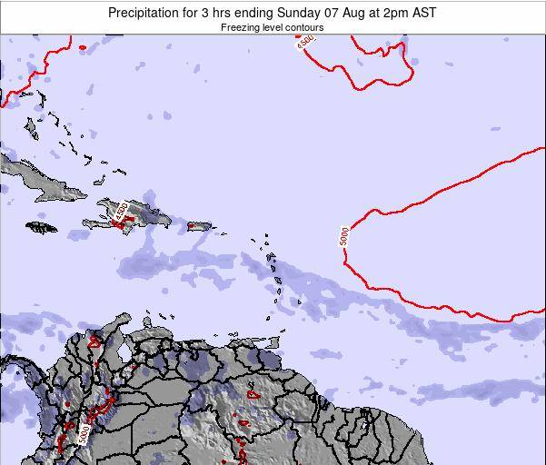 British Virgin Islands Precipitation for 3 hrs ending Sunday 26 May at 2am AST