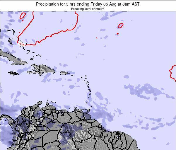 British Virgin Islands Precipitation for 3 hrs ending Sunday 22 Oct at 8pm AST