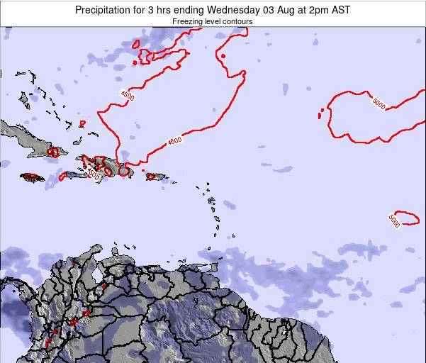 Montserrat Precipitation for 3 hrs ending Wednesday 22 May at 8am AST