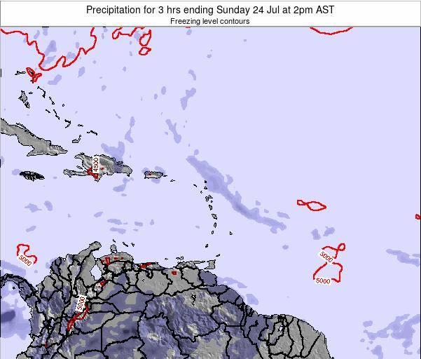 British Virgin Islands Precipitation for 3 hrs ending Thursday 31 Jul at 8pm AST