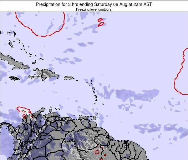 British Virgin Islands Precipitation for 3 hrs ending Saturday 19 Apr at 2am AST
