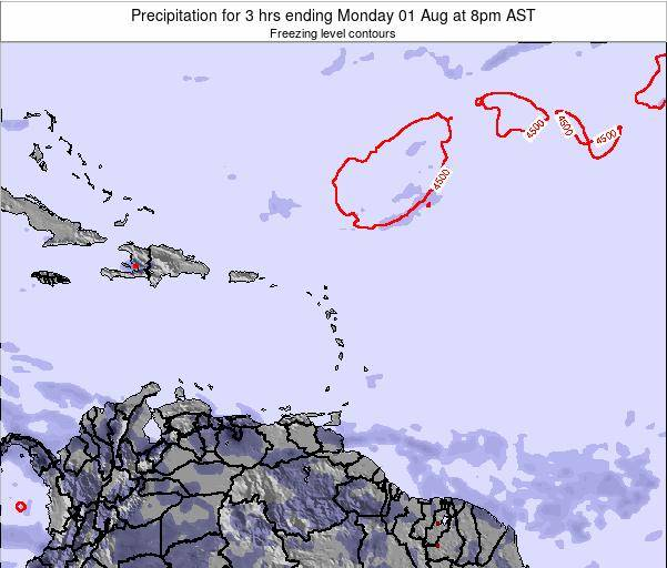 Montserrat Precipitation for 3 hrs ending Saturday 25 May at 2pm AST map