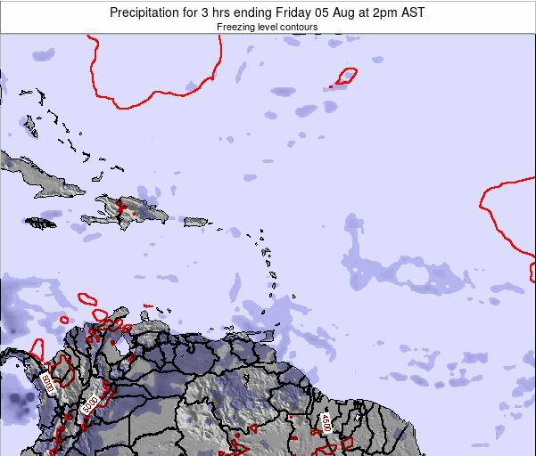 British Virgin Islands Precipitation for 3 hrs ending Saturday 22 Jun at 2am AST