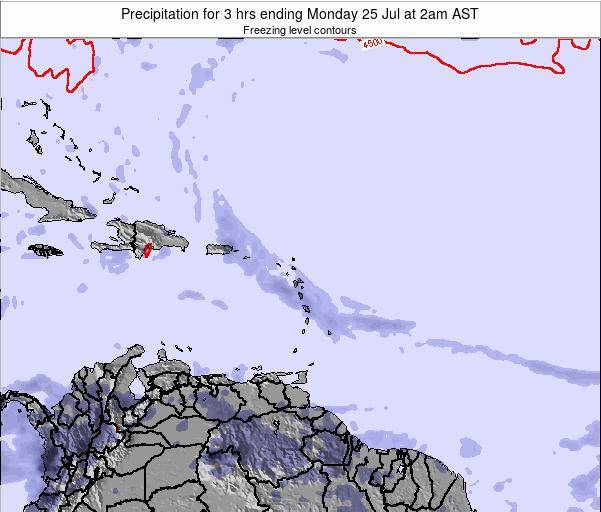 Montserrat Precipitation for 3 hrs ending Tuesday 21 May at 8am AST