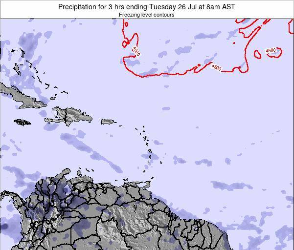 Saint Kitts and Nevis Precipitation for 3 hrs ending Tuesday 21 May at 2am AST