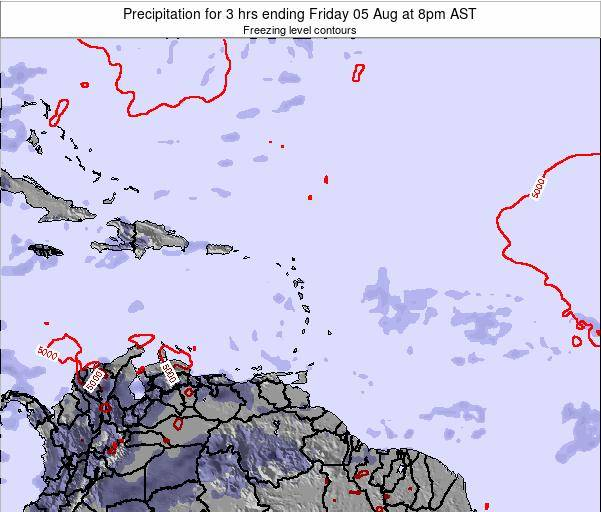 Grenada Precipitation for 3 hrs ending Tuesday 21 May at 2pm AST
